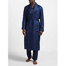 Buy Derek Rose for John Lewis Silk Robe, Navy Online at johnlewis.com