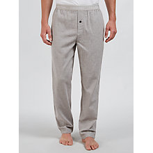 Buy Calvin Klein Stripe Flannel Lounge Pants, Grey Online at johnlewis.com
