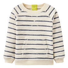 Buy Baby Joule Striped Sweatshirt, Cream Online at johnlewis.com