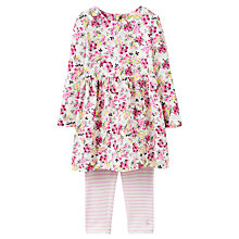 Buy Baby Joule Christina Dress and Leggings Set, Cream/Multi Online at johnlewis.com