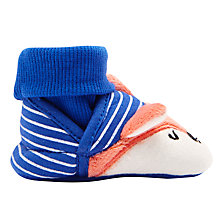 Buy Baby Joule Nippers Fox Slippers, Blue Online at johnlewis.com