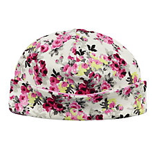 Buy Baby Joule Floral Bonnet, Cream/Floral Online at johnlewis.com