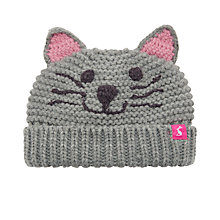 Buy Baby Joule Chummy Cat Knitted Hat, Grey Online at johnlewis.com