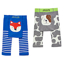 Buy Baby Joule Fox And Dog Leggings, Pack of 2, Blue/Grey Online at johnlewis.com