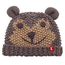 Buy Baby Joule Chummy Monkey Knitted Hat, Grey/Brown Online at johnlewis.com
