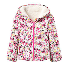 Buy Baby Joule Reversible Cosette Floral Fleece, Cream/Floral Online at johnlewis.com