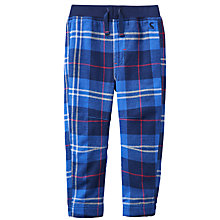 Buy Baby Joule Twill Checked Trousers, Navy Online at johnlewis.com