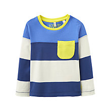 Buy Baby Joule Oscar Long Sleeve Stripe T-Shirt, Navy/Cream Online at johnlewis.com