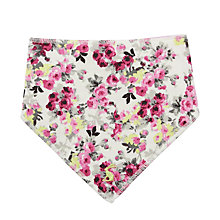 Buy Baby Joule Floral Bib, Cream/Floral Online at johnlewis.com
