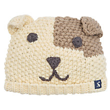 Buy Baby Joule Chummy Dog Knitted Hat, Cream Online at johnlewis.com