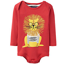 Buy Baby Joule Snazzy Lion Bodysuit, Red Online at johnlewis.com
