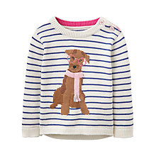 Buy Baby Joule Knitted Dog Jumper, Navy/Cream Online at johnlewis.com