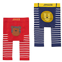 Buy Baby Joule Monkey And Lion Leggings, Pack of 2, Red/Blue Online at johnlewis.com