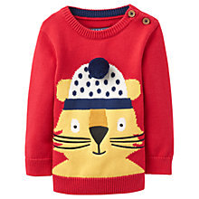 Buy Baby Joule Chrissie Lion Jumper, Red Online at johnlewis.com