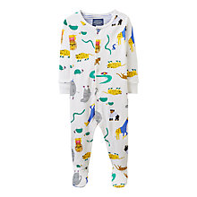 Buy Baby Joule Ziggy Zoo Sleepsuit, Cream Online at johnlewis.com