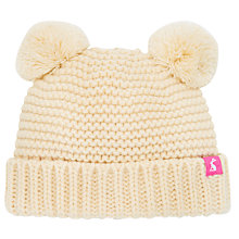 Buy Baby Joule Pom Pom Knitted Hat, Cream Online at johnlewis.com