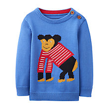 Buy Baby Joule Chrissie Monkey Intarsia Jumper, Blue Online at johnlewis.com