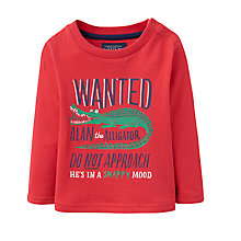 Buy Baby Joule Crocodile Long Sleeve T-Shirt, Red Online at johnlewis.com