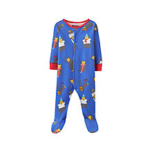 Buy Baby Joule Monkey Ziggy Sleepsuit, Navy Online at johnlewis.com
