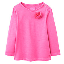 Buy Joules Baby Cora Long Sleeve T-Shirt, True Pink Online at johnlewis.com
