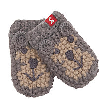 Buy Baby Joule Chummy Monkey Mittens, Grey/Brown Online at johnlewis.com