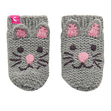 Buy Baby Joule Chummy Cat Mittens, Grey Online at johnlewis.com