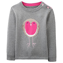 Buy Baby Joule Chrissie Robin Jumper, Silver Online at johnlewis.com