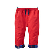 Buy Baby Joule Twill Roll Up Trousers, Red Online at johnlewis.com