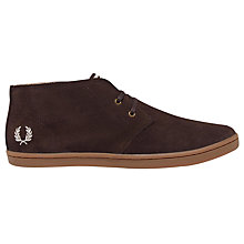 Buy Fred Perry Byron Mid-Ankle Boot, Dark Chocolate Online at johnlewis.com