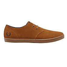 Buy Fred Perry Byron Low Shoes, Ginger Online at johnlewis.com