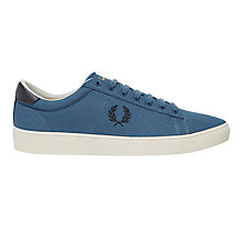 Buy Fred Perry Spencer Lace-Up Canvas, Midnight Online at johnlewis.com