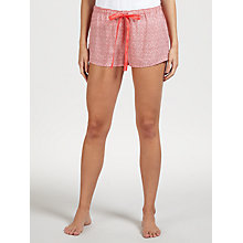 Buy Calvin Klein Interlacing Dots Pyjama Shorts, Coral Online at johnlewis.com