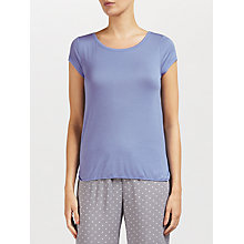 Buy Calvin Klein Short Sleeve Pyjama Top, Blue Online at johnlewis.com