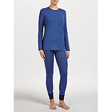 Buy DKNY Jet Setter Pyjamas with Eyemask, Blue Online at johnlewis.com