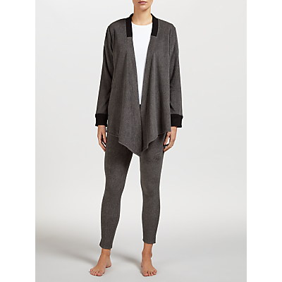 DKNY Long Sleeve Cozy Top and Legging Set, Grey