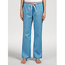 Buy Calvin Klein Linear Inked Geometric Print Pyjama Bottoms, Blue Online at johnlewis.com