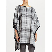 Buy DKNY Checked Poncho and Eye Mask Set, Grey Online at johnlewis.com
