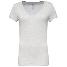 Buy Calvin Klein V-Neck Short Sleeve Pyjama Top, Grey Online at johnlewis.com