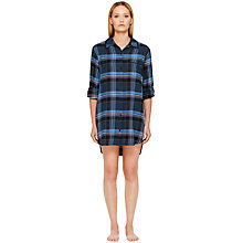 Buy DKNY Plaid Town Boyfriend Nightshirt, Navy Check Online at johnlewis.com