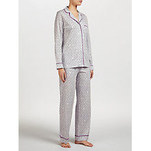 Buy DKNY Graphic Print Pyjama Set, Grey/Multi Online at johnlewis.com