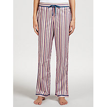 Buy Calvin Klein Peaceful Stripe Pyjama Bottoms, Beige/Blue Online at johnlewis.com