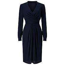 Buy Jacques Vert Drape Detail Jersey Dress, Navy Online at johnlewis.com