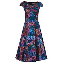 Buy Jolie Moi Twist Bardot Neck Flared Dress Online at johnlewis.com