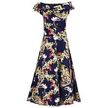 Buy Jolie Moi Twist Bardot Flared Dress Online at johnlewis.com