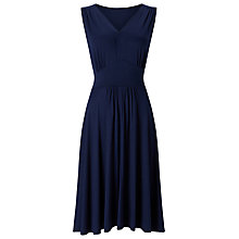 Buy Jacques Vert Jersey Flippy Dress, Navy Online at johnlewis.com