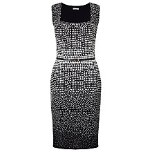 Buy Jacques Vert Jacquard Spot Dress, Multi/Cream Online at johnlewis.com