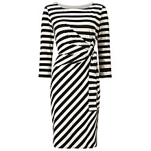Buy Jacques Vert Tie Detail Stripe Dress, Cream/Black Online at johnlewis.com