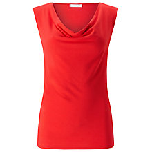 Buy Jacques Vert Jersey Sleeveless Cowl Top, Red Online at johnlewis.com