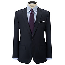 Buy Hackett London Super 120s Wool Birdseye Regular Fit Suit Jacket, Navy Online at johnlewis.com