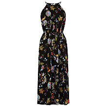 Buy Warehouse Butterfly Print Midi Dress, Multi Online at johnlewis.com